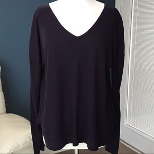 SO Cut Out V-Neck Top Blouse XL